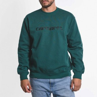 Carhartt Sweatshirt I027092 DARK FIR/BLACK