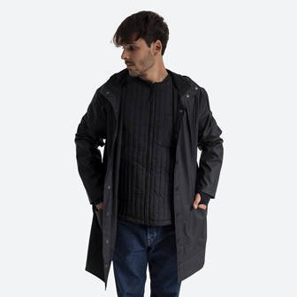 Rains Long Jacket 1202 BLACK