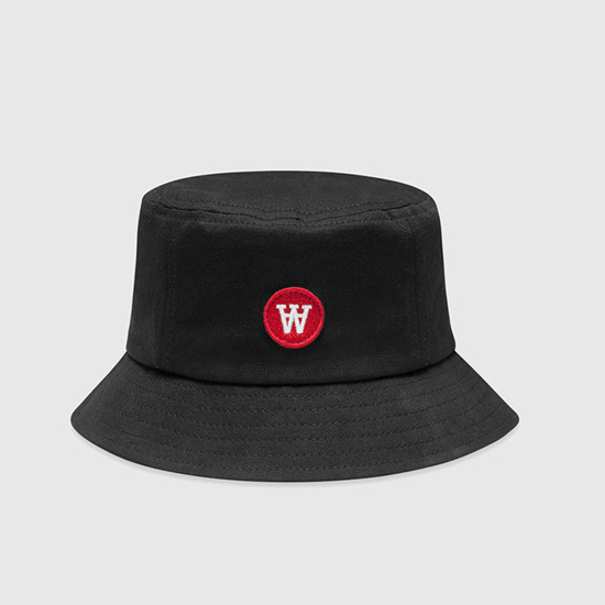 Wood Wood Val Bucket Hat 10000814-7083 BLACK