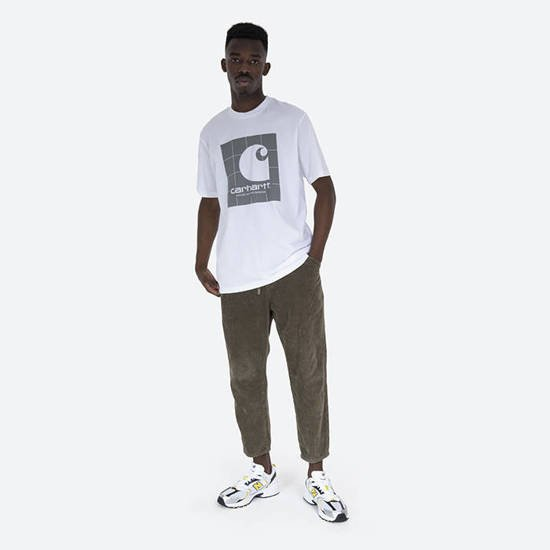 Carhartt WIP Reflective Square T-shirt I028461 WHITE/REFLECTIVE GREY