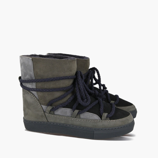 Inuikii Sneaker Patchwork 70102-75 Dark Grey